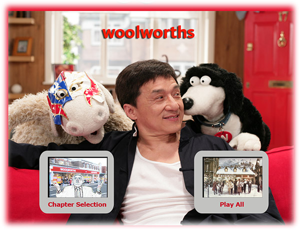 Jackie Chan appeared in a popular 2008 advertisement alongside Wooly and Worth