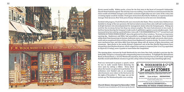 Pages 32 and 33 of 'A Sixpenny Romance, celebrating a century of value at Woolworths' and the Woolworths Museum