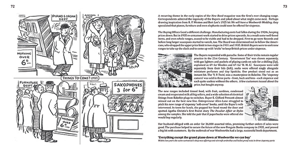 Pages 72 and 73 of 'A Sixpenny Romance, celebrating a century of value at Woolworths' and the Woolworths Museum